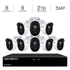 home theater dvr night owl 8 channel 5mp extreme hd dvr 2tb 8 5mp wired infrared
