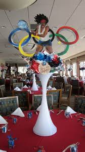 theme centerpiece centerpiece olympic theme sports theme tennis bar bat