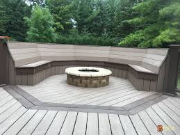Decks With Benches Built In Azek Deck Built In Mequon Wi Bowles Milwaukee Remodeling Group