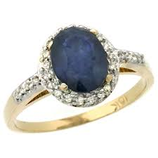 painite engagement ring yellow gold blue sapphire ring oval 8x6mm sizes 5 10