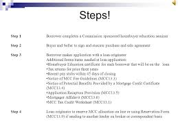 mortgage credit certificate mcc program manual available at
