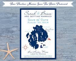 custom save the dates compass studio bar harbor maine