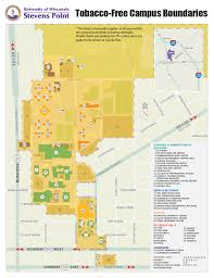 University Of Wisconsin Campus Map by Campus Boundaries Student Health Service Uwsp