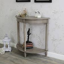 half moon console table with drawer wooden half moon console table hornsea range melody maison