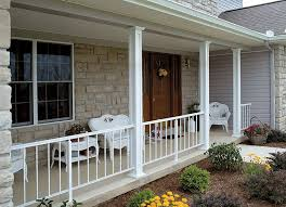 front porch posts and railings home design ideas