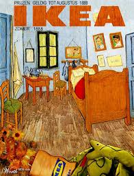 vincent gogh la chambre ikea gogh martine and co parodie detournement
