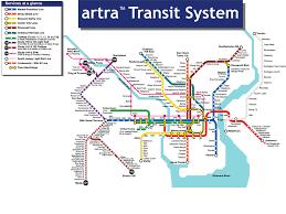 septa map artra transit system map greater prt