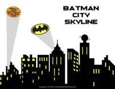 free superhero printables superhero building skyline 4