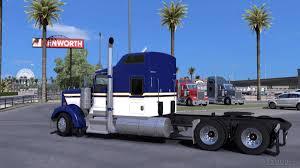 2017 kenworth w900 kenworth w900 blue yellow white skin american truck simulator