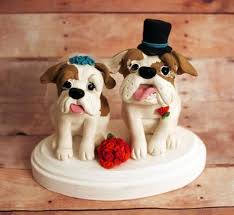 bulldog cake topper bulldog wedding cake toppers
