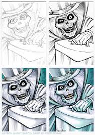 hatbox ghost sketch card
