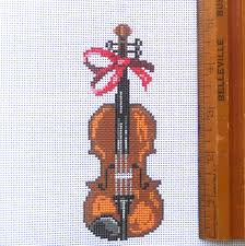 violin ornament nimbleneedlenj
