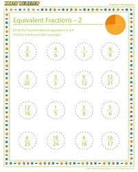 equivalent fractions u2013 2 u2013 kids u0027 fractions worksheets online