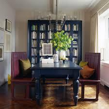 blue dining room table glenn gissler design