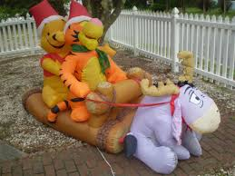 image gemmy inflatable whinnie the pooh tigger and eeyore sleigh