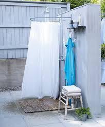 Outdoor Shower Curtains Ideas For Outdoor Shower Curtain Bathroom Ideas