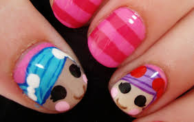 lalaloopsy doll nail art youtube