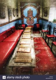 moroccan dining room dining room of henna cafe marrakech morocco stock photo royalty