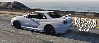 nissan skyline r34 paul walker nissan skyline gtr r34 gta5 mods com