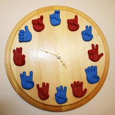 american sign language clock unique handmade asl clock
