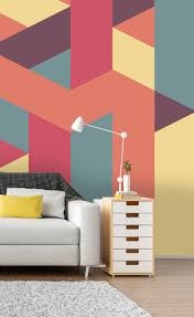 geometric symmetry wall mural geometric wallpaper wall murals hang this symmetrical geometrical wallpaper mural in your living room to create an amazing feature wall featuring beautiful pastel colours this vibrant