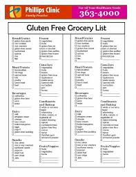 gluten free grocery list dinner free groceries