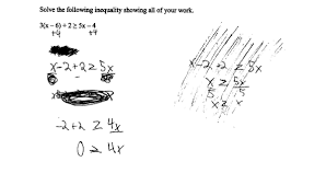 solving a multistep inequality students are asked to solve a