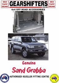 genuine sandgrabba moulded cargo mat landcruiser 100 series wagon