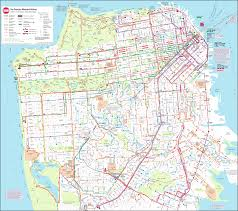 San Francisco Maps by Bus Map San Francisco For Muni Jpg