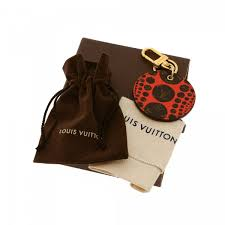 Louis Vuitton Si Louis Vuitton Yayoi Kusama Pumpkin Dots Key Holder Bag Charm
