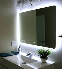 shining bathroom mirrors led halo tall led light bathroom mirror