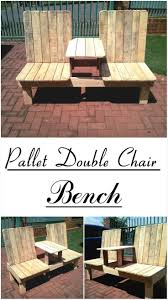 Mickey Mouse Patio Chair by Recycled Pallet Double Chair Bench Pallets Bench And Patios