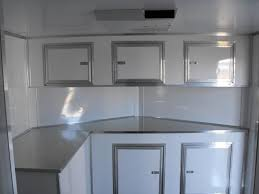 V Nose Enclosed Trailer Cabinets by Base And Overhead Cabinets With The Generator Box Race Ready