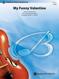 my funny valentine string orchestra conductor score u0026 parts