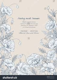 vintage style wedding invitations wedding invitations poppies vintage style on stock vector