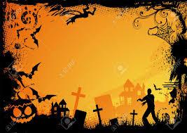 halloween vectors grunge horror frame for halloween vector illustration stock