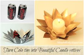let u0027s make it lovely turn coke tins into beautiful candle votives