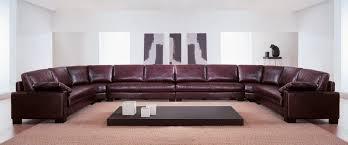 canap cuir 7 places canapé en arc de cercle contemporain en cuir 7 places et