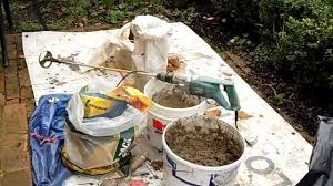 Sand Cement Mix For Patio Laying Patio Pavers Mortar Mixing Youtube