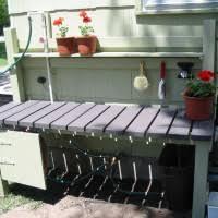Outdoor Potting Bench With Sink Impressive Outdoor Garden Furniture Present Breathtaking Custom