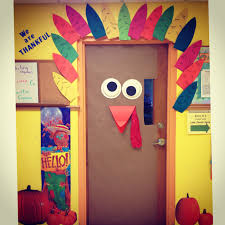 our thanksgiving door at school preschool
