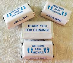 amazon com 180 boy or footprints baby shower candy wrappers