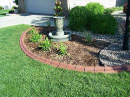 Flower Bed Border Ideas Easy Flower Bed Edging Ideas Amazing Lawn Landscaping Bricks For