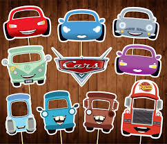 cars characters printable cars photo booth props disney cars party masks