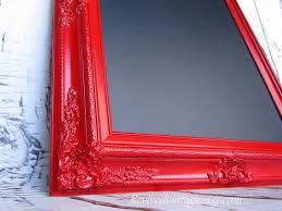Baroque Home Decor Framed Chalkboard Magnetic Red Furniture Wall Home Decor Red