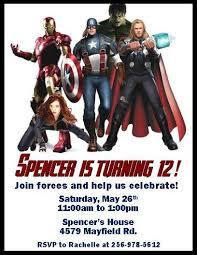 printable avengers invitations printable invitations