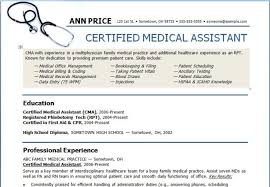Medical Assistant Resume Templates Free Example Of Medical Assistant Resume Resume Example And Free