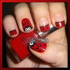 ladybird ladybug nail art manicure with tutorial hair nails