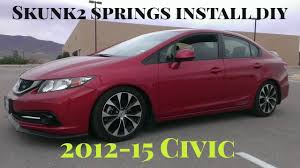 how to install skunk2 lowering springs 2013 civic si youtube