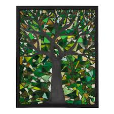 tree stained glass panel stained glass uncommongoods